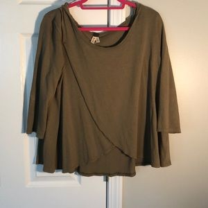 army green free people blouse